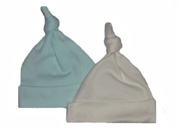 premature babies hats cotton  single knot hat PASTELS any tiny baby size