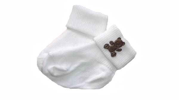 white premature baby clothes Socks 000 5-8lb size tinybaby choc teddy