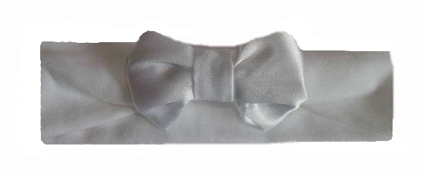 premature baby clothes headband WHITE preemie